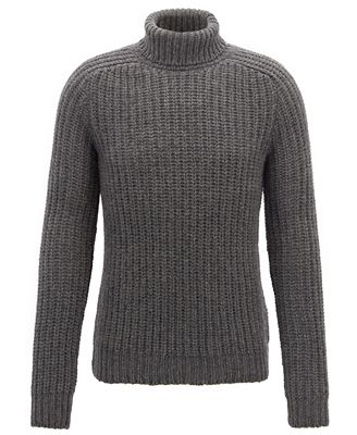 Hugo Boss Boss Mens Cashmere Turtleneck Sweater Sweaters Men