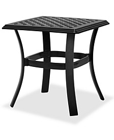 Outdoor Cast Aluminum End Table, Created For Macy's