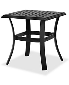 Portofino Outdoor Cast Aluminum End Table, Created For Macy's