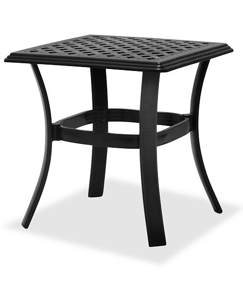 Furniture Outdoor Cast Aluminum End Table, Created For Macy's