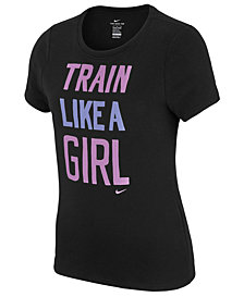 Nike Big Girls Dry Train Like A Girl T-Shirt