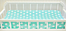 Pixie Baby in Aqua Polka Dot Contour Changing Pad Cover