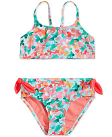 Summer Crush Toddler Girls Fly-Away Floral-Print Bikini
