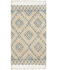 """Native Art Ivory Blue 27"""" x 45"""" Accent Rug"""