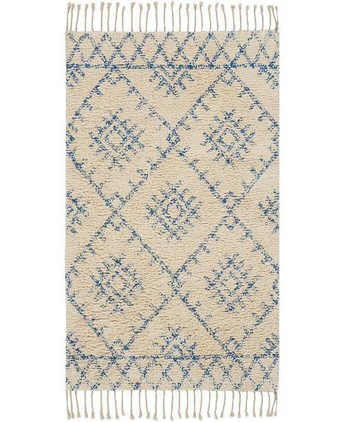 "Nourison Native Art Ivory Blue 27"" x 45"" Accent Rug"