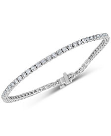 Diamond Tennis Bracelet (4 ct. t.w.) in 14k White Gold