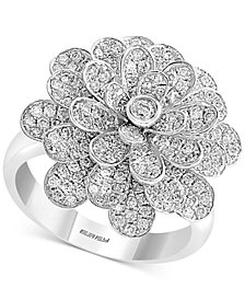 EFFY® Diamond Flower Ring (1-5/8 ct. t.w.) in 14k White Gold
