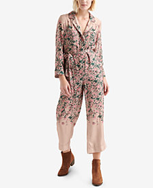 Lucky Brand Floral-Print Jumpsuit