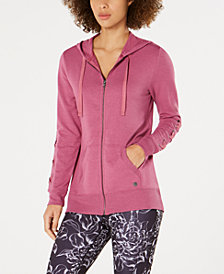 Ideology Lace-Up Sleeve Zip Hoodie, Created for Macy's