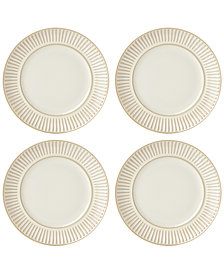 Dansk Flamestone Ivory Salad Plates, Set of 4