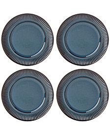 Dansk Flamestone Denim Dinner Plates, Set of 4