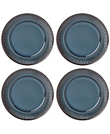 Dansk Flamestone Denim Dinner Plates, Set of 4