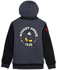 Disney Big Boys Mickey Mouse Sherpa Fleece Graphic Hoodie