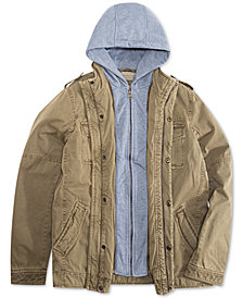 Levi's® Big Boys Zip-Front Hooded Canvas Jacket
