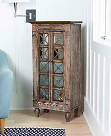 Celine Ceruse Oak Jewelry Armoire