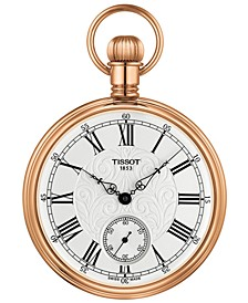 Unisex Swiss Mechanical Lepine Gold-Tone Brass Pocket Watch 51mm