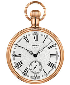 Tissot Unisex Swiss Mechanical Lepine Gold-Tone Brass Pocket Watch 51mm