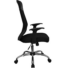 High Back Black Mesh Executive Swivel Chair With Arms