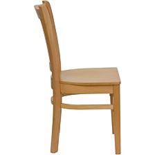 Hercules Series Vertical Slat Back Natural Wood Restaurant Chair