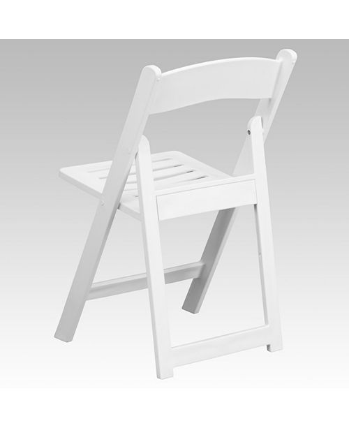 Incredible Hercules Series 1000 Lb Capacity White Resin Folding Chair With Slatted Seat Creativecarmelina Interior Chair Design Creativecarmelinacom