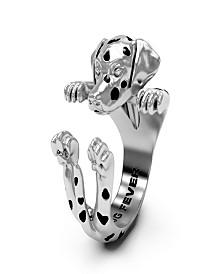 Dalmatian Hug Ring in Sterling Silver