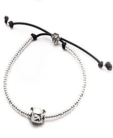 English Bulldog Head Bracelet in Sterling Silver