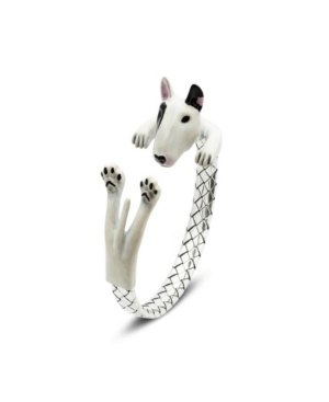 Bull Terrier Adjustable Bracelet in Sterling Silver and Enamel -  Dog Fever
