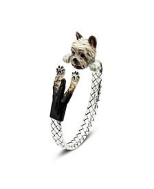 Yorkshire Terrier Adjustable Bracelet in Sterling Silver and Enamel