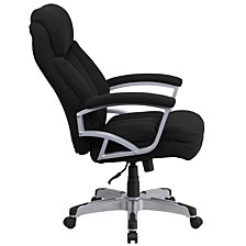 Hercules Series Big & Tall 500 Lb. Rated Black Fabric Executive Swivel Chair With Arms