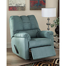 Signature Design By Ashley Darcy Rocker Recliner In Sky Microfiber