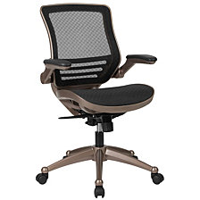 Mid-Back Transparent Black Mesh Executive Swivel Chair