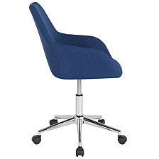 Cortana Home And Office Mid-Back Chair In Blue Fabric