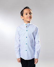 ROSIR Boys Mandarin Collar Shirt
