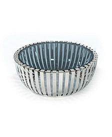 Modrest Cage Modern Stainless Steel Round Coffee With Table Glass Top