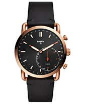 2f6a018d3700a Fossil Q Men s Commuter Black Leather Strap Hybrid Smart Watch 42mm