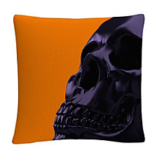 "Halloween 3D Skull 16x16"" Decorative Throw Pillow by ABC"