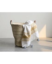 Oversized Hand Woven Moroccan Basket w/Handles