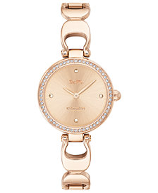 COACH Women's Park Rose Gold-Tone Stainless Steel Bracelet Watch 26mm