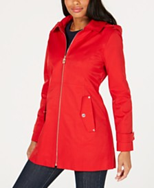 MICHAEL Michael Kors Petite Hooded Raincoat