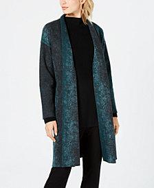 Eileen Fisher Wool Open-Front Kimono Jacket