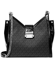 MICHAEL Michael Kors Whitney Small Signature Chain Shoulder Tote
