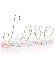 Martha Stewart Collection Love LED Sign, Created for Macy's