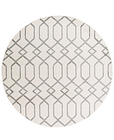 "Surya Horizon HRZ-1048 Medium Gray 7'10"" Round Area Rug"