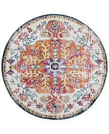 "Harput HAP-1000 Saffron 5'3"" Round Area Rug"