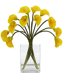 Nearly Natural Calla Lily Artificial Arrangement in Vase