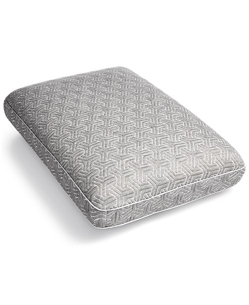 Martha Stewart Collection Charcoal Gusset Memory Foam Standard/Queen Pillow, Created for Macy's