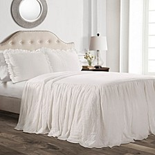 Ruffle Skirt 2-Piece Twin Bedspread Set