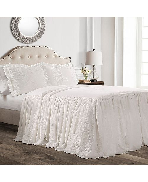 Lush Decor Ruffle Skirt 3-Piece Full Bedspread Set