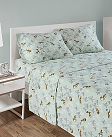 Cozy Soft Twin XL Cotton Novelty Print Flannel Sheet Set
