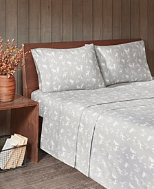 Cotton Flannel 4-Piece Queen Sheet Set